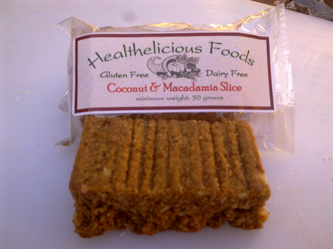 Picture of Coconut and Macadamia Slice